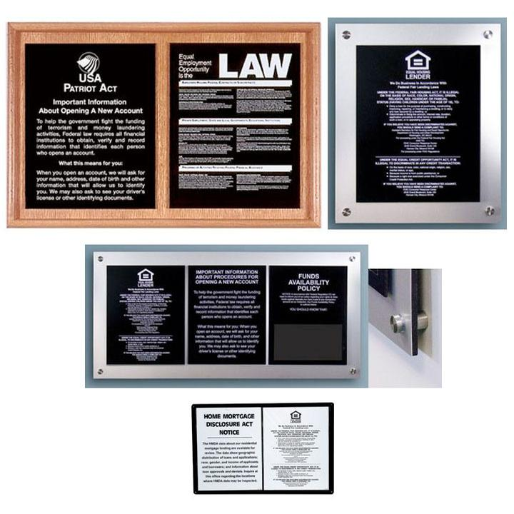 Signs & Displays, Frames for Mandatory Signs