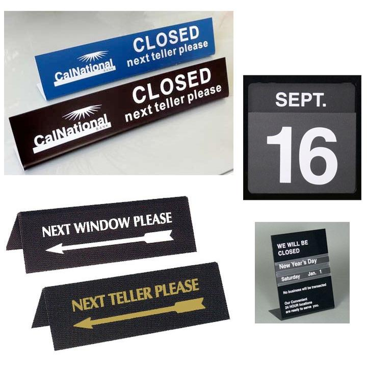 Signs & Displays, Teller & Counter Signs
