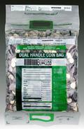 US Green ECO STAT Tamper-Evident Security Coin Bags: Dual Handle