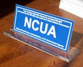 NCUA INSURANCE SIGN ON ACRYLIC BASE  # NCUAS250