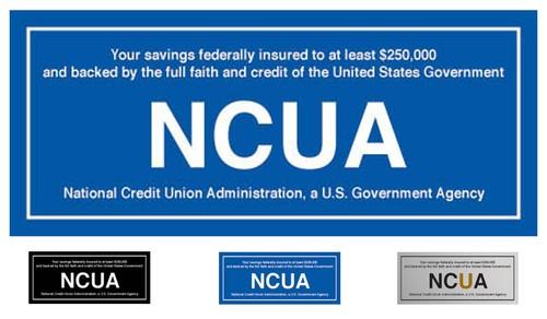 Ncua Self Adhesive Back Sign Ncuad250 U S Bank Supply