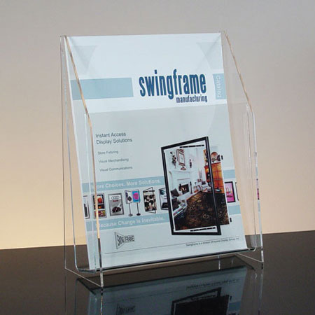 Clear Acrylic 1-Pocket Literature Holder for 4