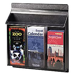 Three pocket exterior acrylic deposit slip holder with - Outdoor brochure holders for exterior use ...