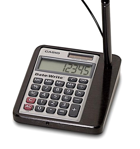 Countertop Calculator with Anti-Theft Pen