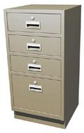 "Standing Height Teller Pedestal with 3 ""S"" Drawers"