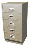 Standing Height Pedestal System with 5 Drawers