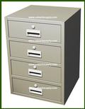 "Teller Pedestal with 4 ""S"" Drawers, No Removable Base"