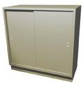 Double-Wide Teller Pedestal, 2 Sliding Doors, 2 Shelves