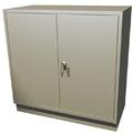 Double Wide Teller Pedestal, 2 Hinged Doors