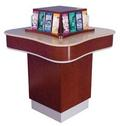 Four-Sided Curved Laminate Check Desk  - Main Image