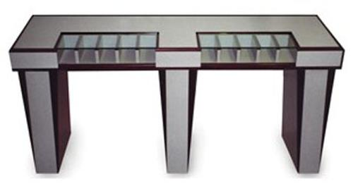 One Sided Check Desk With 10 Compartments For Vestibules