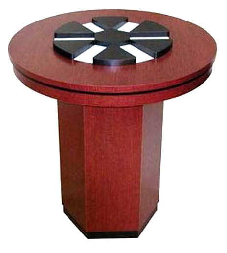 Circular Check Desk Stand With Center Forms Organizer U