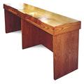 One-sided Check Desk - 10 compartments, 13 finishes