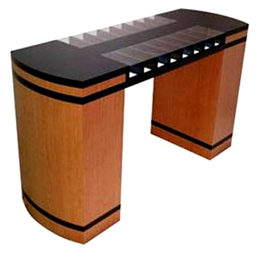 Two Sided Check Desk With Curved Counter 16 Compartments