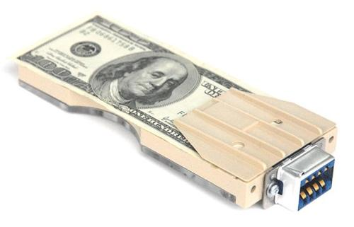 Auto-Disconnect Bill Trap Money Clip - Main Image