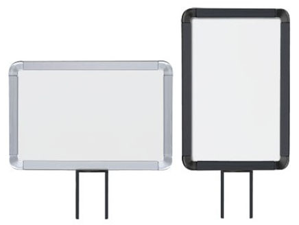Fixed Mount Sign Frames for Beltrac Crowd Control Post - Main Image