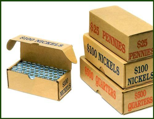 Coin Storage and Shipping Boxes -- Bundle of 50 - Main Image