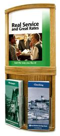 Combination Graphic Display and Double Brochure Holder