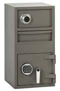 Narrow Sized, Two Compartment, Depository Safe - Main Image