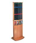 Two-Sided Standing Financial Display for Literature Posters Rates