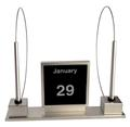 Stylish Two-Pen Magnetic Counter Unit with Perpetual Calendar