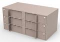 Cash Storage Unit / Double-Width Interior Vault Unit with 6 Teller Lockers