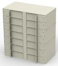 Vertical Double-Width Interior Vault Unit with 14 Teller Lockers