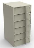 Vertical Cash Storage / Single-Width Interior Vault Unit with 6 Teller Lockers