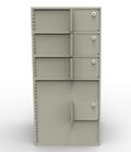 Single-Width Vault Interior Unit with 3 Teller Lockers and 1 Coin Cabinet - Main Image