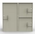 Double-Width Vault Interior Unit with 1 Tall Storage Cabinet and 2 Coin Cabinets - Main Image