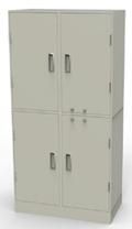 Collateral Locker, 2 Compartments & Adjustable Shelves, Key Locks