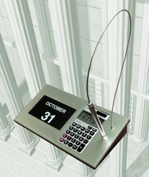 Calculator Magnetic Calendar and Pen Combination