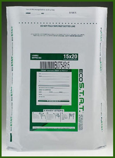 US Green ECO STAT Tamper-Evident High Security Deposit Bags - White - Main Image