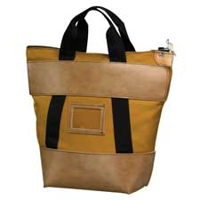 QUICK SHIP LOCKING COURIER BAG IN GOLD -- 21