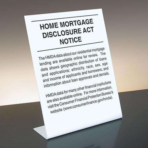 Home Mortgage Disclosure Act Notice Mandatory Countertop