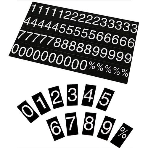 NUMBERS AND CHARACTER SET FOR PRINTED RATE DISPLAY - - Main Image