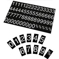 500 piece number set for printed magnetic rate displays