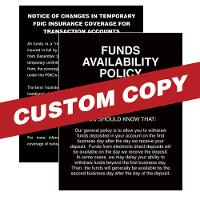 Custom 11 x 14 ADS, CRA and FA Mandatory Magnetic Signs