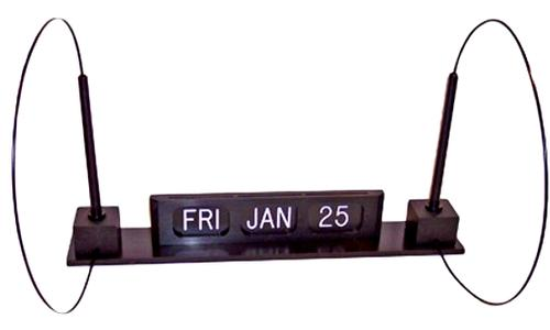 Perpetual Calendar and Pen Unit with Self-Adhesive Tape