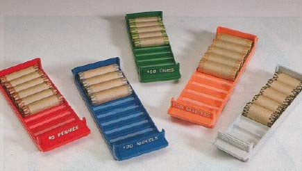 Rolled Coin Storage Trays