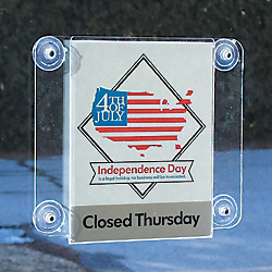 Clear Window Mount Sign Holder For 8 1 2 X 11 Signs