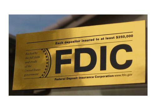 Fdic Bank Stickers Depositor Insured To 250 000 U S