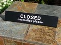 Next Teller Please Closed Sign # US30756B00