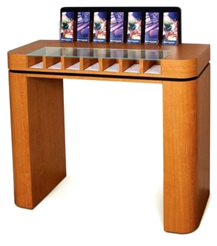 Curved-Laminate Counter with 7 Compartments  -- PRICE $2,936.00 - Main Image