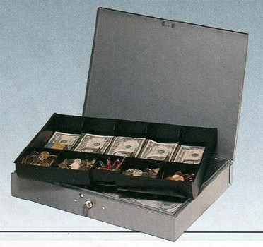 Steel Cash Box With Removable Plastic Tray 10