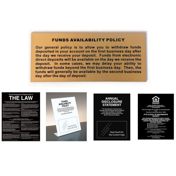 Signs & Displays, Mandatory Signs