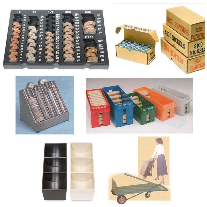Cash Handling, Coin Trays & Storage